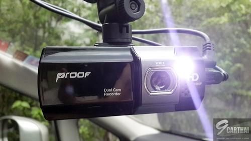 รีวิว Proof PF700 กล้องบันทึกวิดีโอติดรถยนต์ จับภาพด้านหน้าและด้านหลังพร้อมกัน