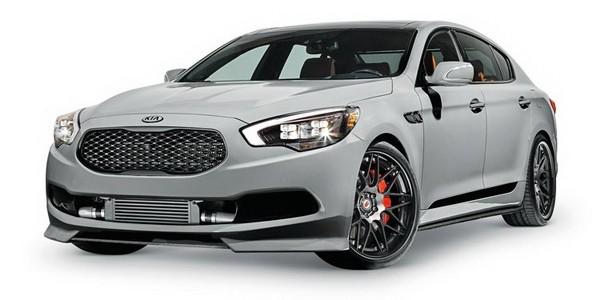 """KIA เปิดตัวรถแบบ """"K900"""" พร้อมโชว์ในงานที่ SEMA Show เป็นข่าวคราวล่าสุดใหม่ของวงการรถยนต์ระดับหรูเลยทีเดียว หลังจากทาง KIA ค่ายแต่งรถชื่อดังจากประเทศเกาหลีใต้นั้นตัดสินใจที่จะเปิดตัวรถรุ่นใหม่ล่าสุดแบบ """"K900"""" ที่มีประสิทธิภาพสูง ข่าวคราวล่าสุดคือรถแบบหรูหรารุ่นใหม่อย่าง """"K900″ นั้นอาจจะเปิดตัวภายในเดือนหน้านี้ในประเทศสหรัฐอเมริกา ซึ่งถือว่าเป็นโฉมที่ KIA เองนั้นตั้งใจจะพัฒนามาเป็นระยะเวลานานแล้วเพื่อให้แบรนด์อยู่ในระดับสูง โดยคอนเซ็ปต์แบบ High-Performance K900 concept นั้นจะเปิดอย่างเป็นทางการในเดือนหน้าที่งานอย่าง SEMA Auto Show ซึ่งจะมาพร้อมกับชุดแต่งแบบใหม่ที่ทำมาจากวัสดุอย่างคาร์บอนไฟเบอร์ทั้งหมด นอกจากนี้ยังใช้ล้อแม็กซ์อัลลอยด์ขนาด 21 นิ้วอีกด้วย..."""