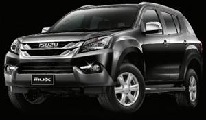 Isuzu mu-x สีดำออสเตรเลียนโคล