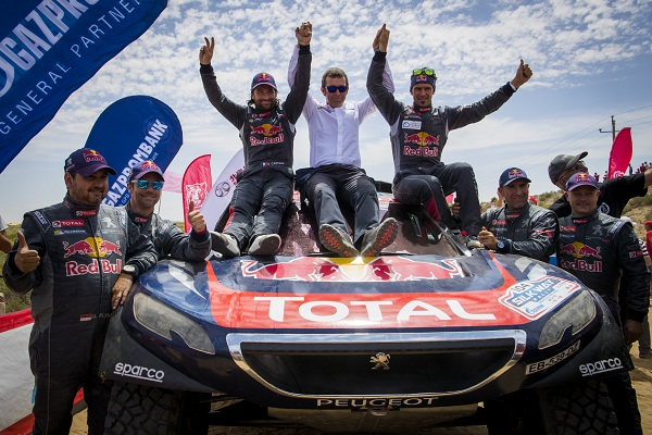 Winners of the Silk Way Rally CYRIL DESPRES ( FRA ) DAVID CASTERA ( FRA ) TEAM PEUGEOT TOTAL PEUGEOT 2008 DKR during the Silk Way 2016 Rally , Stage 14 Wuhai - Hohhot ,  July 23 ,  China - Photo Florent Gooden / DPPI