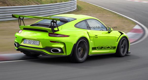 Facelifted Porsche 911 GT3