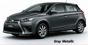 โตโยต้า ยาริส สีเทาดำ Gray Metallic