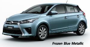 Toyota Yaris สีฟ้า Frozen Blue Metallic